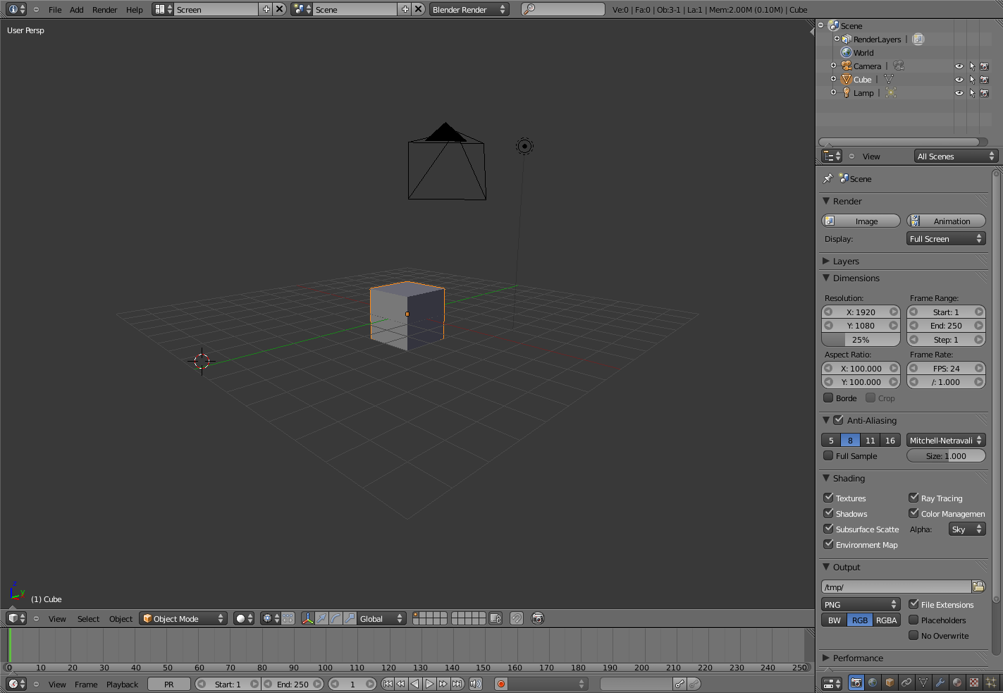 Screenshot of Blender 2.5